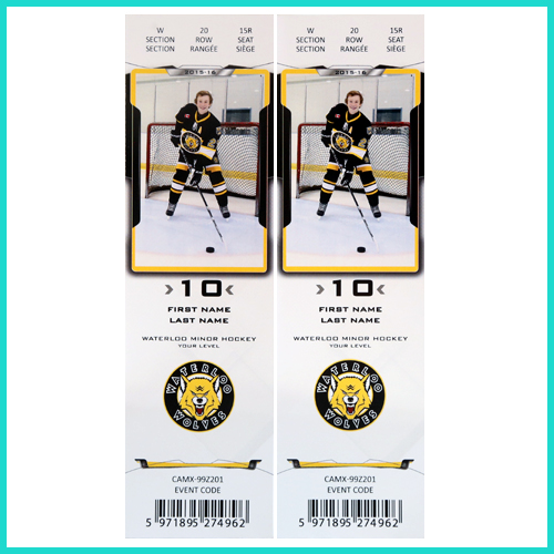 Hockey Player ticket