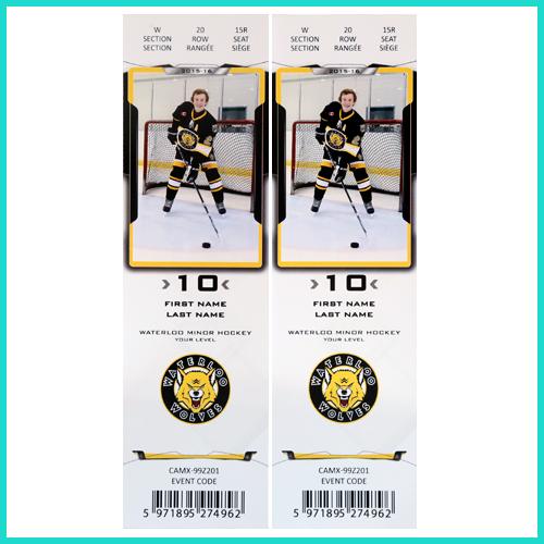 Hockey Player ticket