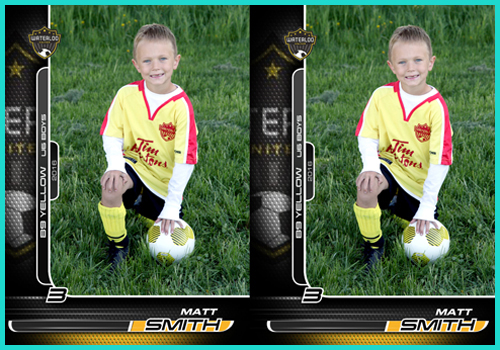 Soccer 2-5x7s Individual
