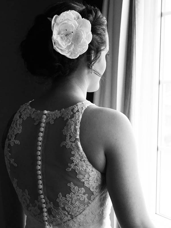 Black and white bride silhouette Wellesley wedding photographer