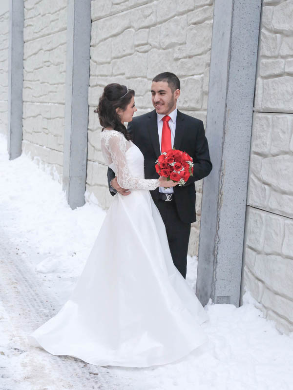 Winter wedding at Picture Yourself