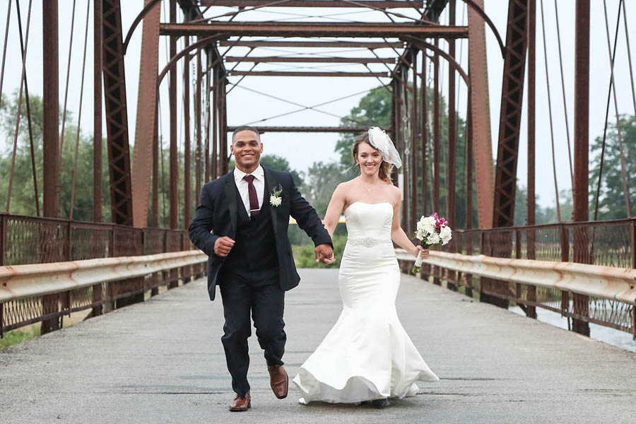 wedding fun on Conestogo Iron Bridge