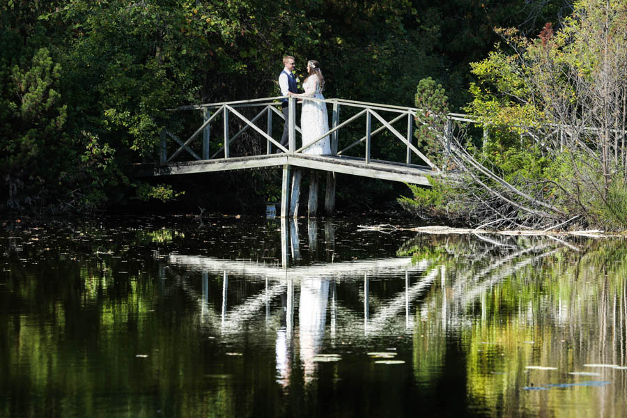 wedding reflection Aberfoyle Mill